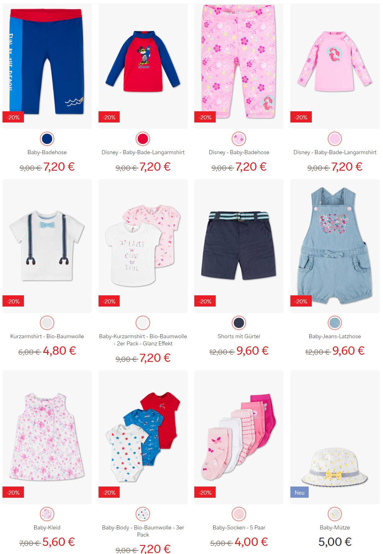 Детская одежда и обувь скидка 20% из магазина C&A (Германия)