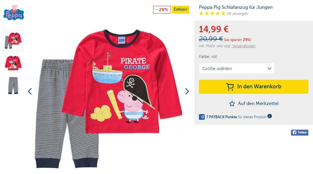 Детская коллекция Peppa Pig  скидки до 29% из магазина MyToys (Германия)