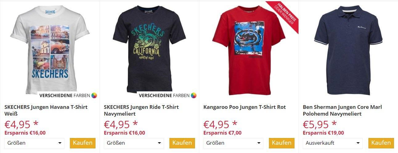 Кофты и футболки для мальчиков скидки до 75% из магазина MandM Direct (Германия)