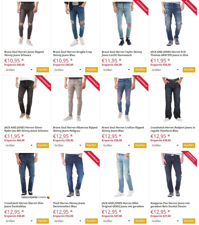 Мужские джинсы от 10,95€ скидки до 80% из магазина MandM Direct (Германия)