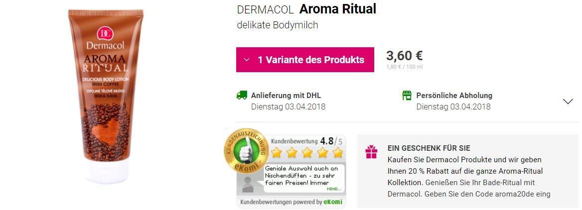 Уход за кожей тела Aroma Ritual Доп. скидка 20% из магазина Notino (Германия)