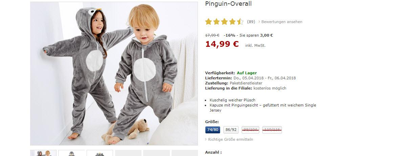 Одежда для детей скидки до 30% из магазина Tchibo (Германия)