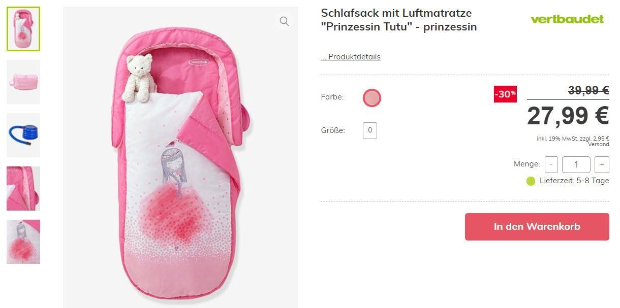Постельное белье для малышей скидка 50% из магазина Vertbaudet (Германия)