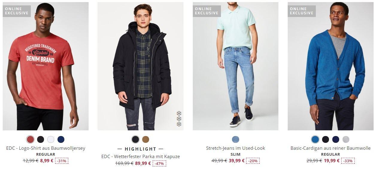 Женская и мужская одежда Доп. скидка 20% из магазина ESPRIT (Германия)