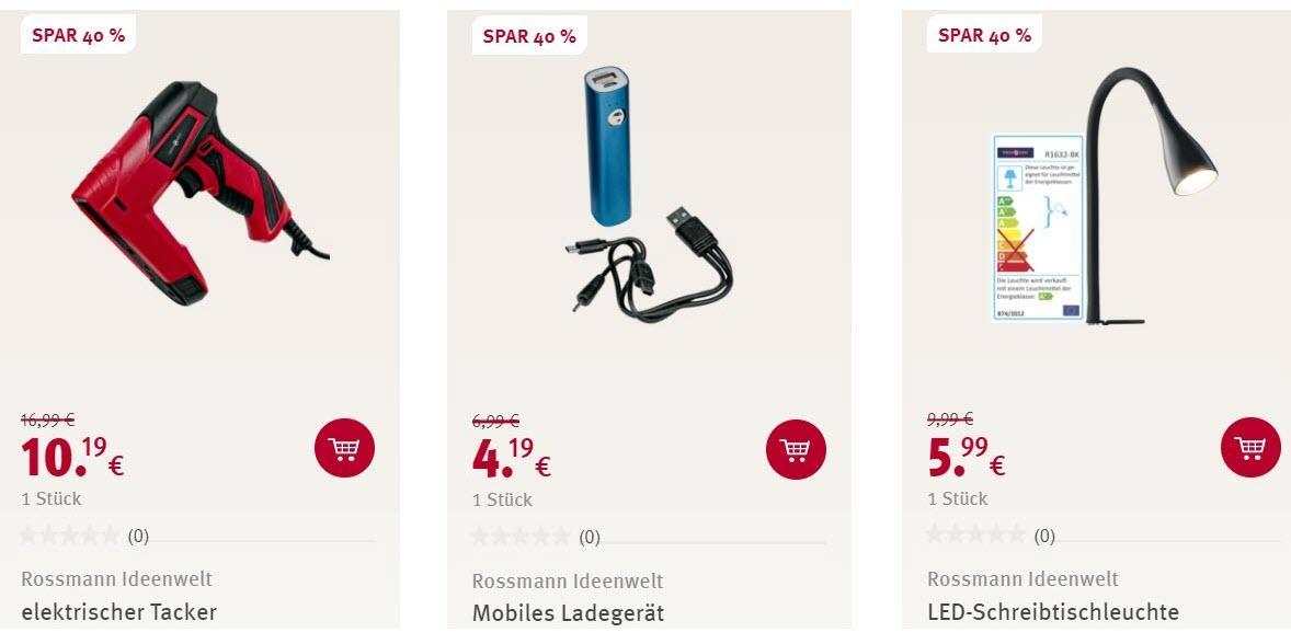 Электротехника и товары для дома скидка 40% из магазина ROSSMANN (Германия)