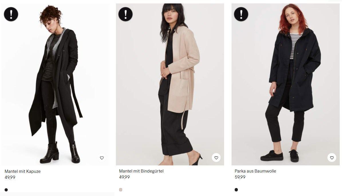 На верхнюю одежду, только сегодня Доп. скидка 30% из магазина H&M (Германия)