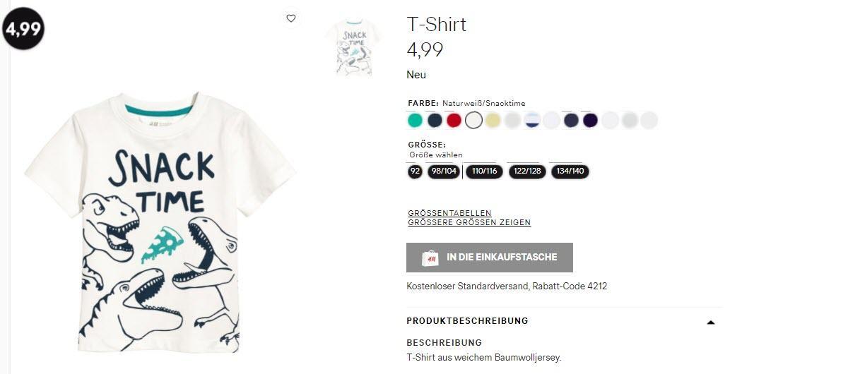 Детская одежда от 4,99 Доп. скидка 15% из магазина H&M (Германия)