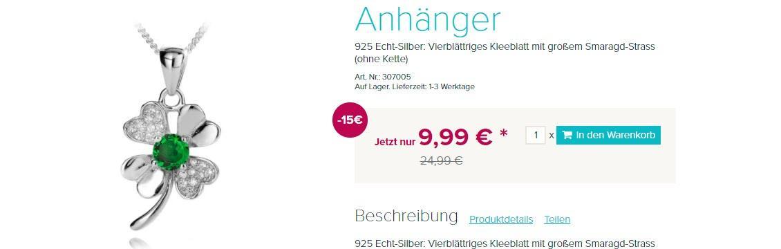 Бижутерия скидки до 15% из магазина Silvity (Германия)