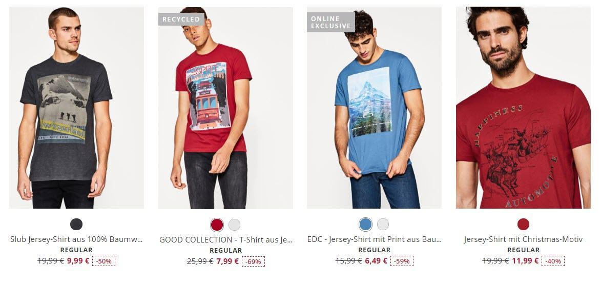 Стильные мужские футболки Скидки до 50% из магазина ESPRIT (Германия)