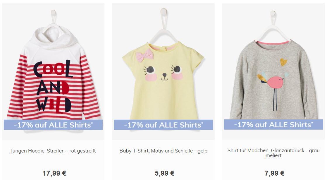 На детскую обувь и кофты Доп. скидка 17% из магазина Vertbaudet (Германия)