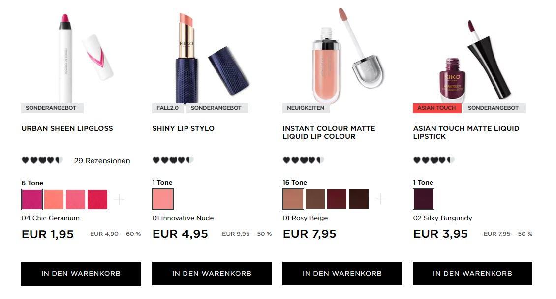 2 + 2 бесплатно профессиональная косметика Доп. скидка до 50% из магазина Kikocosmetics (Германия)