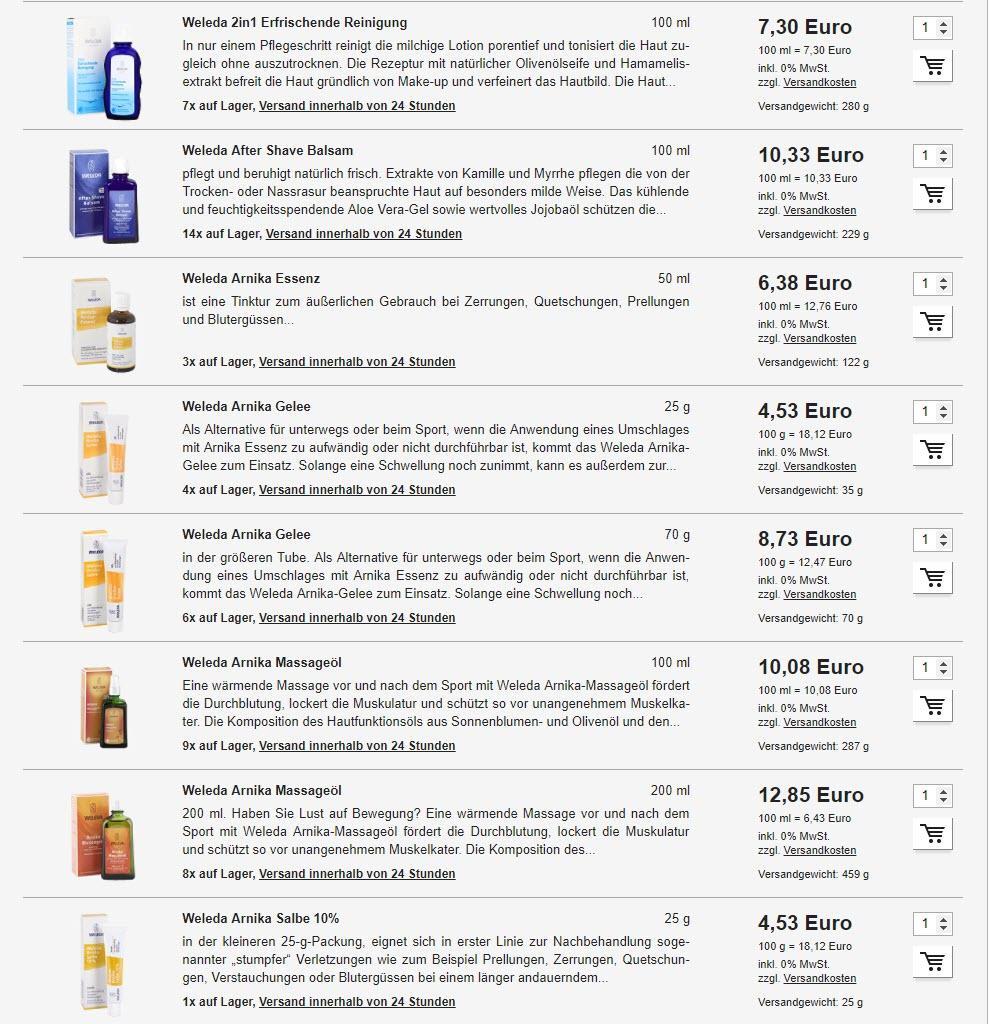 Косметические и лекарственные средства Weleda скидки до 26% из магазина Violey (Германия)