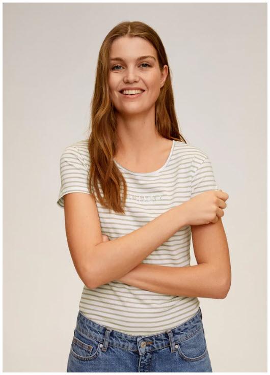 Женские футболки до 3 € Скидки до 70% из магазина MANGO Outlet (Германия)