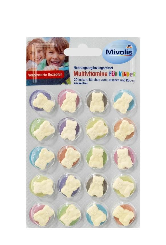 Витамины Mivolis Скидки до 15% из магазина DM (Германия)