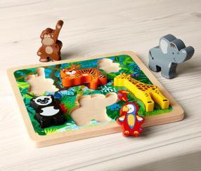 Отзыв на Деревянные головоломки формы »Животные джунглей« из Интернет-Магазина Tchibo