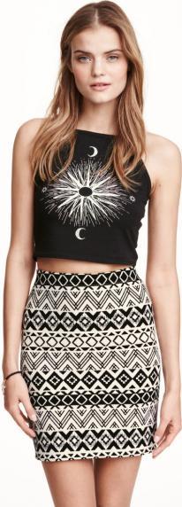 Отзыв на С узором юбка трикотажная из Интернет-Магазина H&M