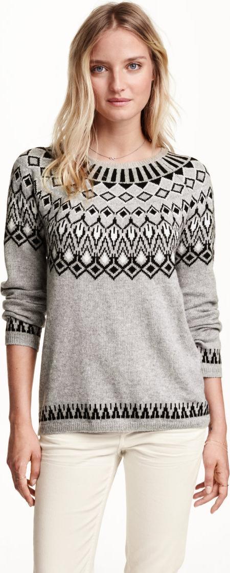 Отзыв на Пуловер жаккардовый из Интернет-Магазина H&M