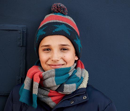 Отзыв на Шапка вязаная Нормальная шарф, 4-цветная косточках, из Интернет-Магазина Tchibo