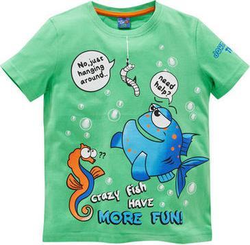 """Отзыв на Футболка - Рыба, Червь, Морской конек, """"Crazy Fish Have more Fun"""" из Интернет-Магазина Kik.de"""