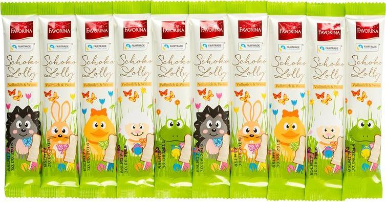 Отзыв на Favorina Шоколадный Лолли Цельное молоко  Белый из Интернет-Магазина LIDL