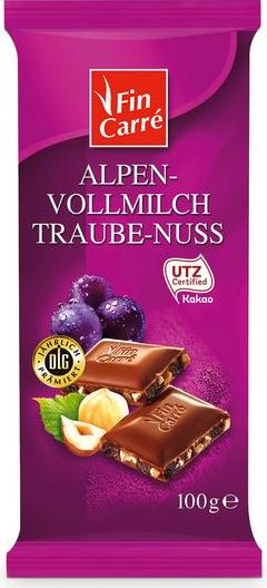 Отзыв на Fin Carré Альпийский молочный шоколад Traube-Nuss из Интернет-Магазина LIDL