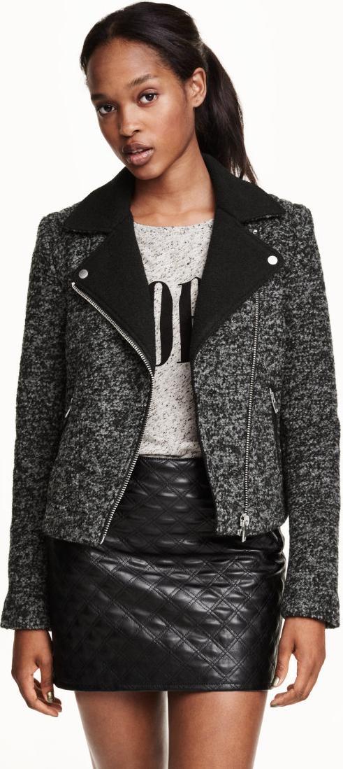 Отзыв на Куртка байкерская с полушерстяной из Интернет-Магазина H&M
