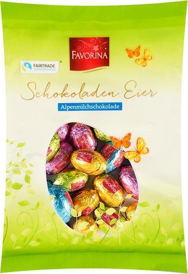 Отзыв на Favorina Schokoladen Eier Alpenmilchschokolade из Интернет-Магазина LIDL
