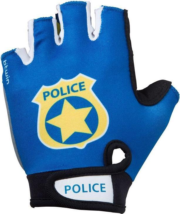 Отзыв на Велосипед Перчатки короткие Police для детей голубой B'Twin из Интернет-Магазина Decathlon