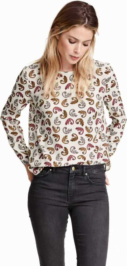 Отзыв на Блузка с Креп ткань из Интернет-Магазина H&M