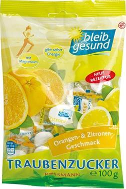Отзыв на bleib gesund Traubenzucker Orangen- & Zitronen-Geschmack из Интернет-Магазина ROSSMANN