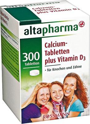 Отзыв на Altapharma Кальция Таблетки плюс Витамин D3 из Интернет-Магазина ROSSMANN