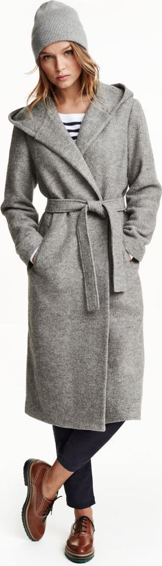 Отзыв на Пальто с капюшоном шерстяные из Интернет-Магазина H&M