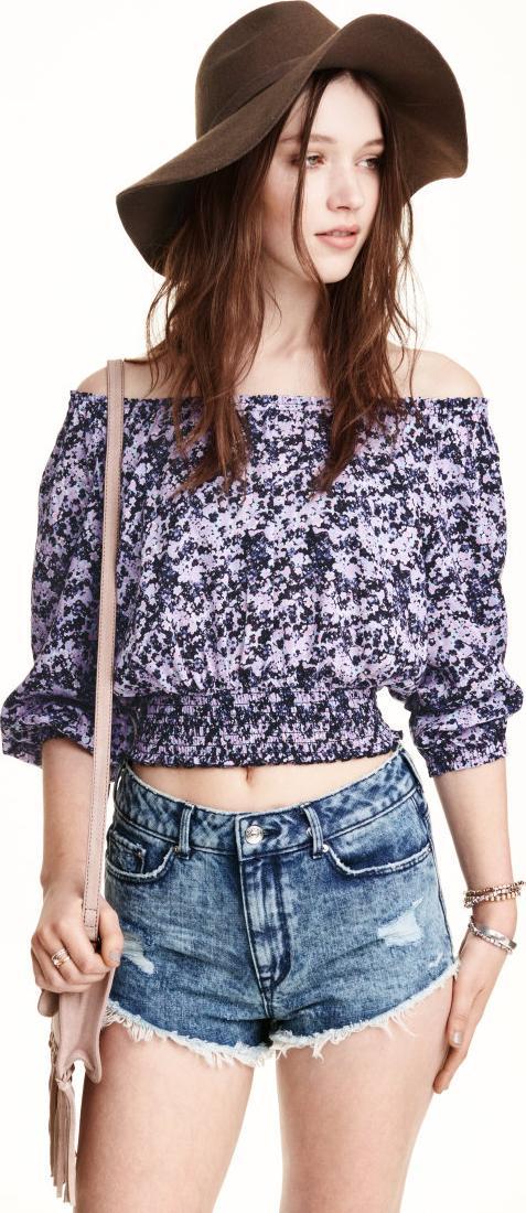 Отзыв на Джинсовые шорты с потертостями из Интернет-Магазина H&M