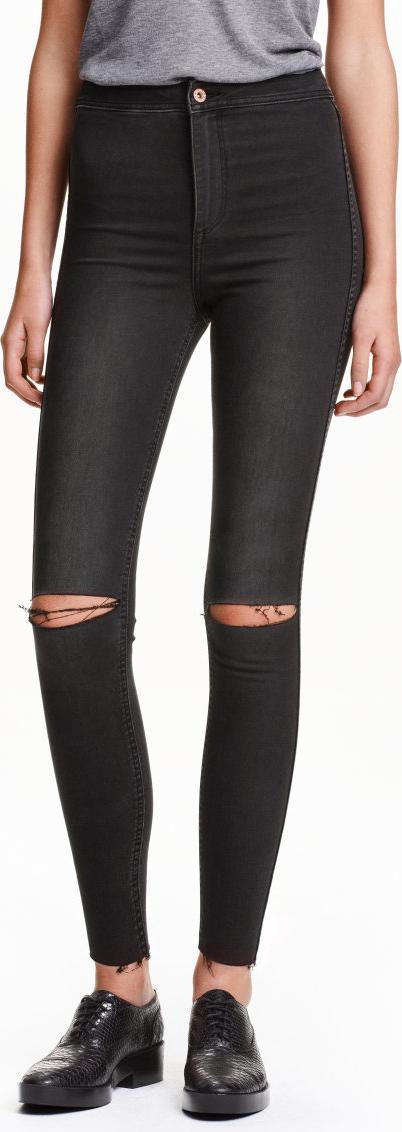 Отзыв на Узкие джинсы высокий Лодыжки рваные джинсы из Интернет-Магазина H&M