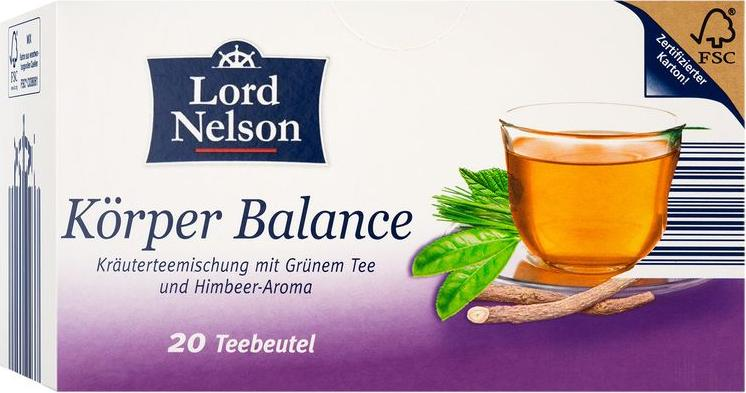 Отзыв на Lord Nelson оздоровительный чай Тело Баланс из Интернет-Магазина LIDL