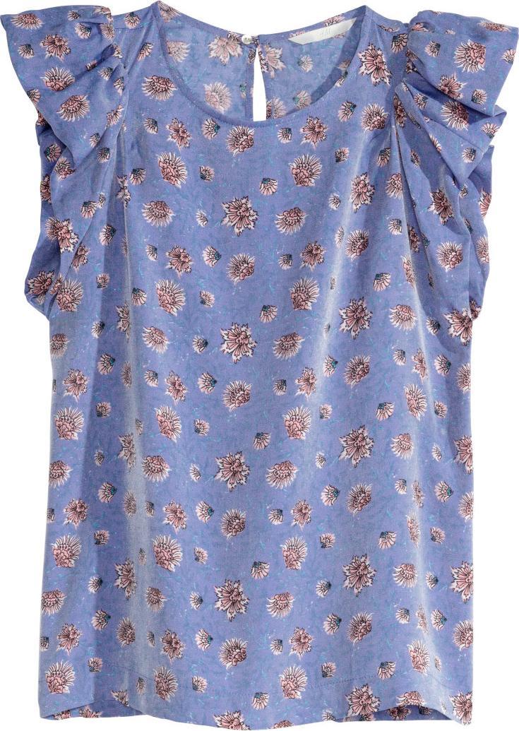 Отзыв на Атласная блузка с рукавом воланом из Интернет-Магазина H&M