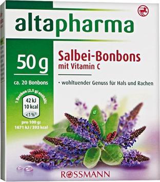 Отзыв на Altapharma Шалфей-Конфеты с Витамин C из Интернет-Магазина ROSSMANN