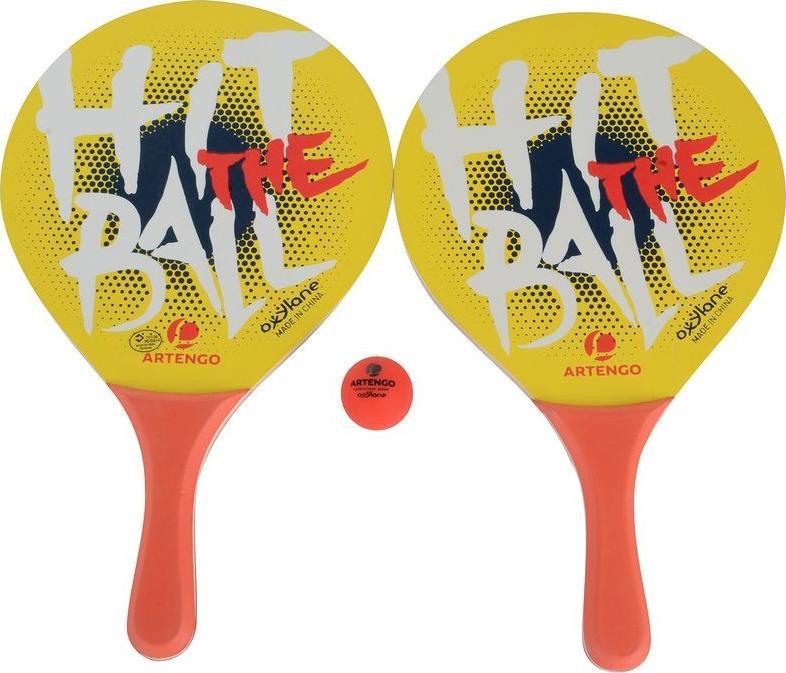 Отзыв на Пляжный Теннис Набор БТР Вуди 2 Ракетки желтый ARTENGO из Интернет-Магазина Decathlon