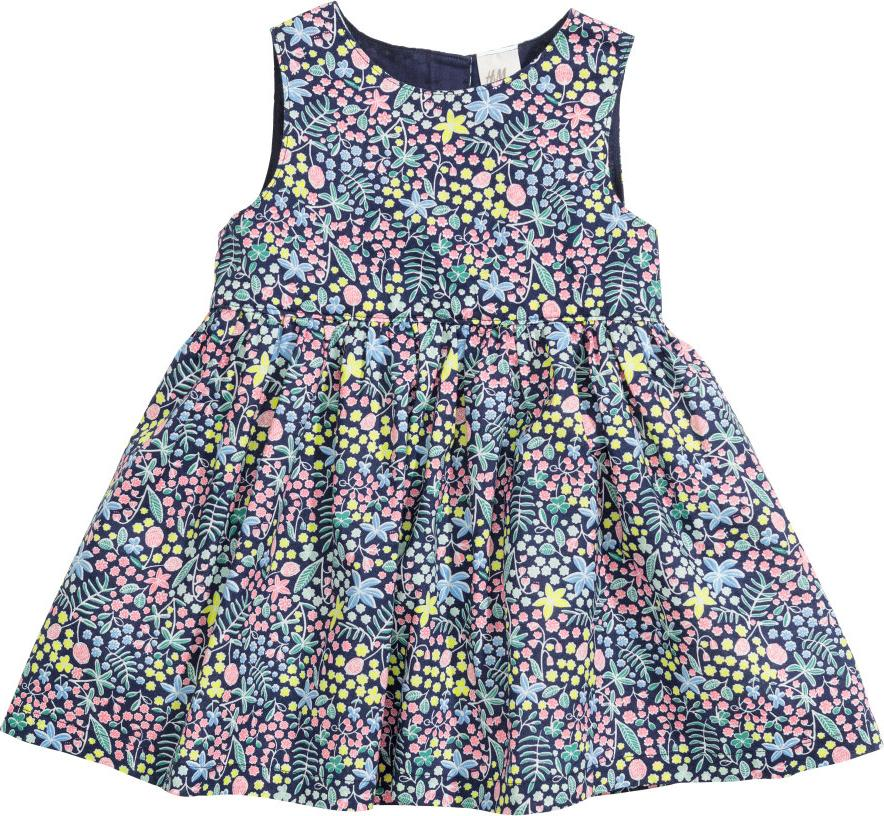 Отзыв на Цветное хлопковое платье из Интернет-Магазина H&M