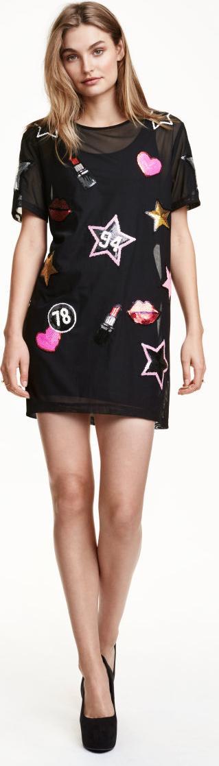 Отзыв на Mesh платье с блестками из Интернет-Магазина H&M
