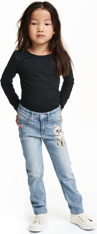 Отзыв на Зауженные джинсы с принтом из Интернет-Магазина H&M