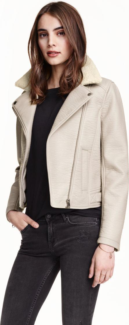 Отзыв на Куртка байкерская с Плюшевый воротник из Интернет-Магазина H&M