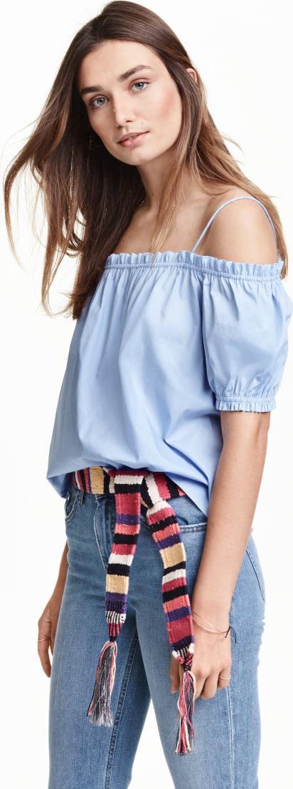 Отзыв на Блузка со спущенными плечами из Интернет-Магазина H&M