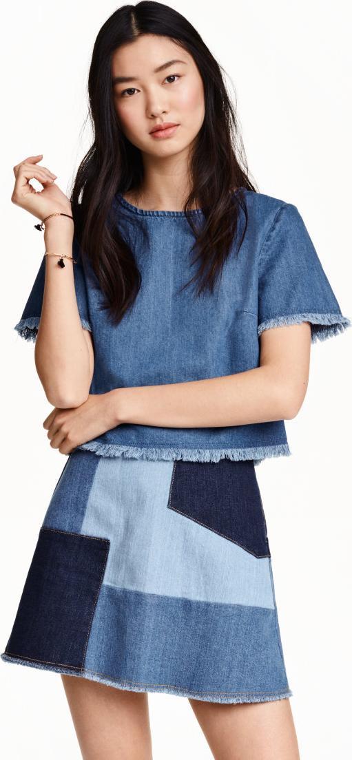 Отзыв на Укороченные Джинсовая блузка из Интернет-Магазина H&M