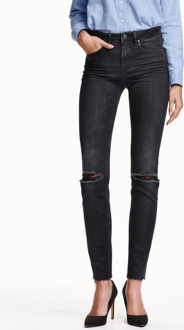 Отзыв на Зауженные джинсы с высокой талией по щиколотку из Интернет-Магазина H&M