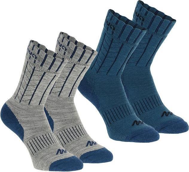 Отзыв на Стены носки ARPENAZ теплый 2 пары серый/синий голубой Нормальная QUECHUA из Интернет-Магазина Decathlon