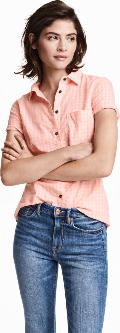 Отзыв на Хлопковая блузка с c коротким рукавом из Интернет-Магазина H&M