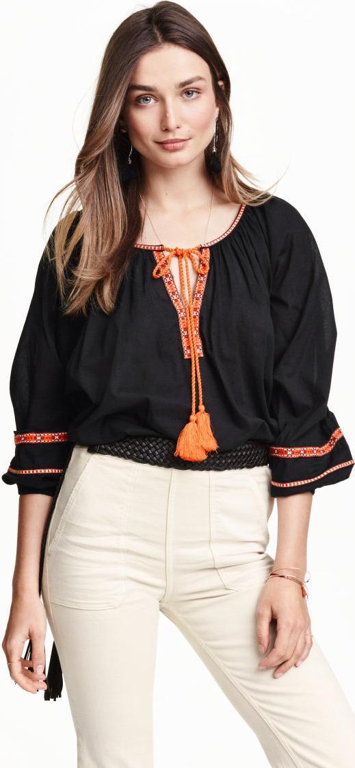 Отзыв на Обширные Хлопковая блузка из Интернет-Магазина H&M