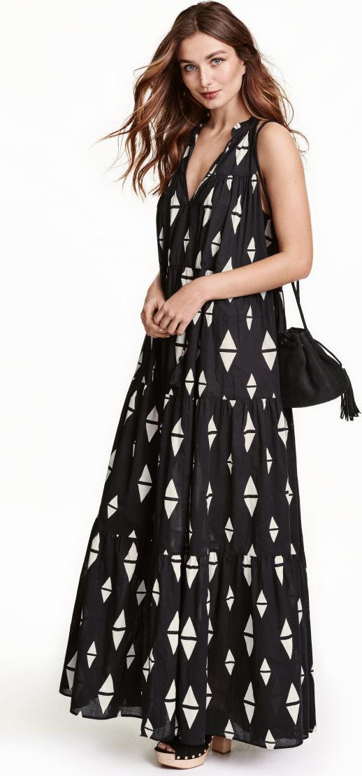 Отзыв на Узорное длинное платье из Интернет-Магазина H&M
