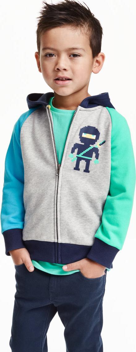 Отзыв на Толстовка куртка в Блок цвета из Интернет-Магазина H&M